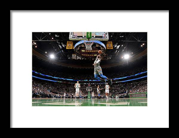 Nba Pro Basketball Framed Print featuring the photograph Paul George by Brian Babineau