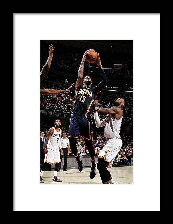 Nba Pro Basketball Framed Print featuring the photograph Paul George by David Liam Kyle