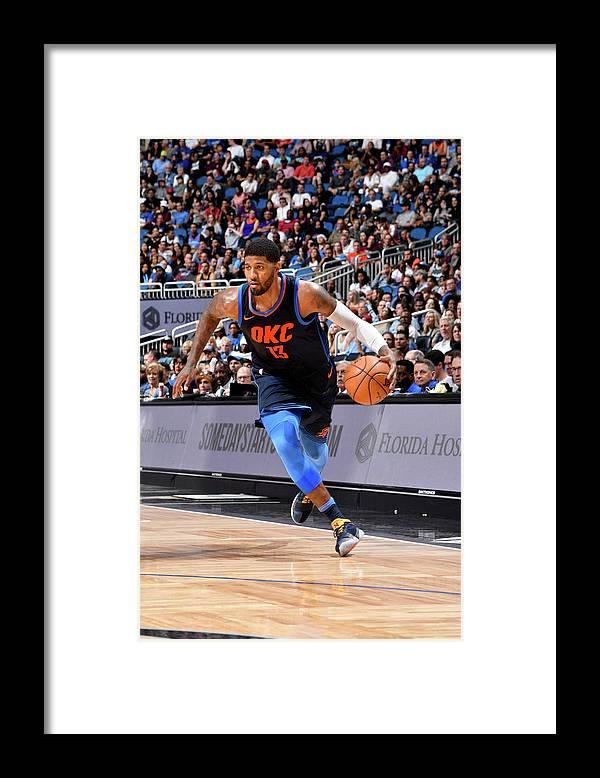 Nba Pro Basketball Framed Print featuring the photograph Paul George by Fernando Medina