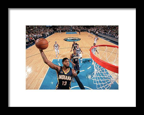 Nba Pro Basketball Framed Print featuring the photograph Paul George by Glenn James