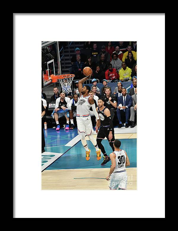 Nba Pro Basketball Framed Print featuring the photograph Paul George by Jesse D. Garrabrant