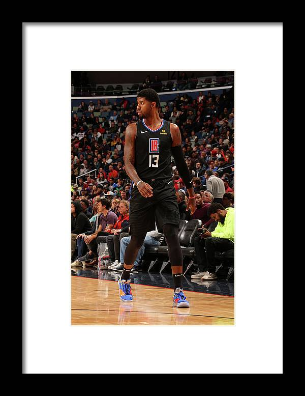 Smoothie King Center Framed Print featuring the photograph Paul George by Layne Murdoch Jr.