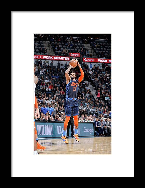 Nba Pro Basketball Framed Print featuring the photograph Paul George by Mark Sobhani