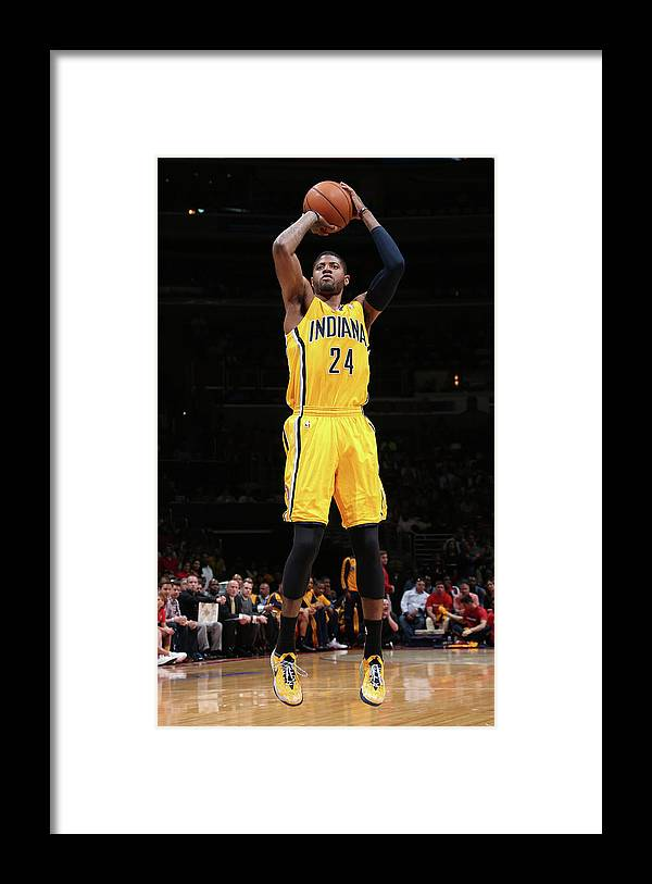 Playoffs Framed Print featuring the photograph Paul George by Ned Dishman