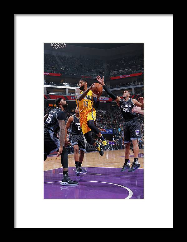 Nba Pro Basketball Framed Print featuring the photograph Paul George by Rocky Widner