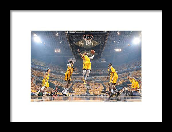 Playoffs Framed Print featuring the photograph Paul George by Ron Hoskins
