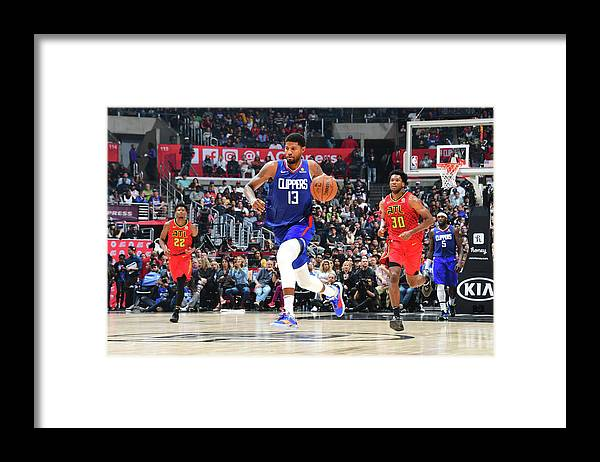 Atlanta Framed Print featuring the photograph Paul George by Scott Cunningham