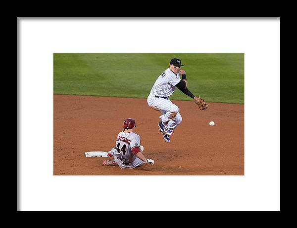 Double Play Framed Print featuring the photograph Paul Goldschmidt and Troy Tulowitzki by Dustin Bradford