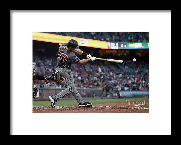 San Francisco Framed Print featuring the photograph Paul Goldschmidt by Ezra Shaw