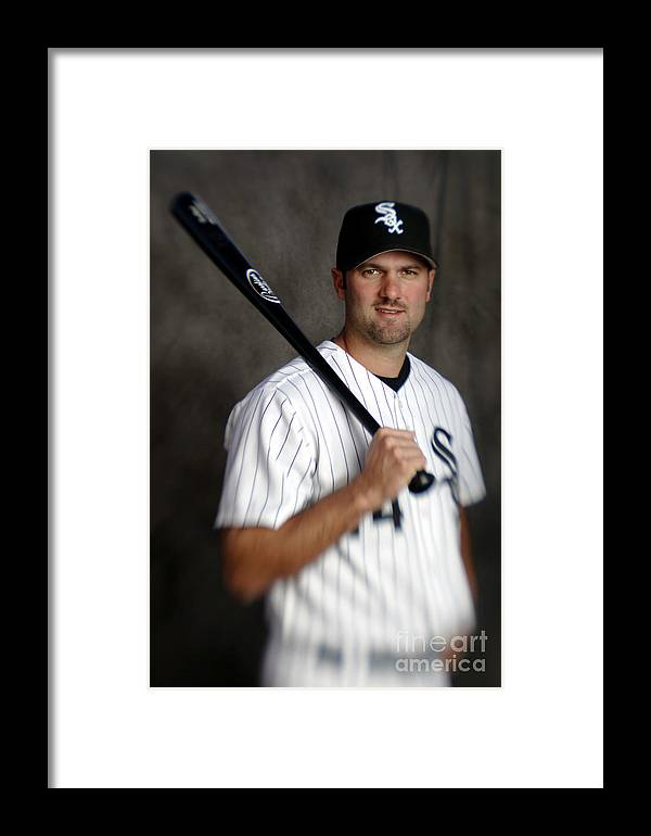 Media Day Framed Print featuring the photograph Paul Konerko by Brian Bahr