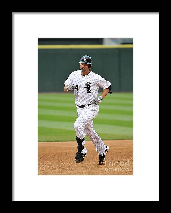 People Framed Print featuring the photograph Paul Konerko by Brian Kersey