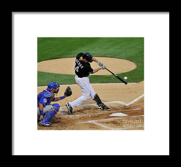 People Framed Print featuring the photograph Paul Konerko by David Banks