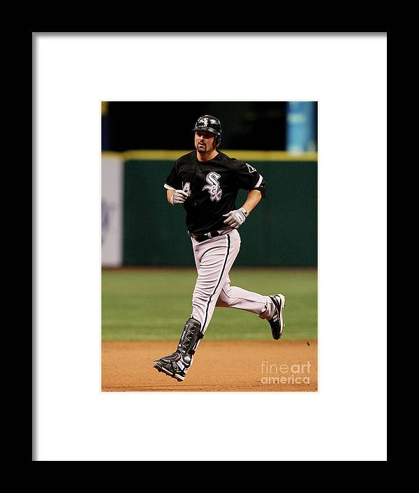 Playoffs Framed Print featuring the photograph Paul Konerko by Doug Benc