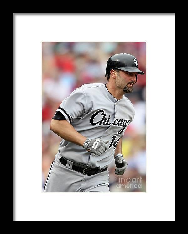 American League Baseball Framed Print featuring the photograph Paul Konerko by Elsa