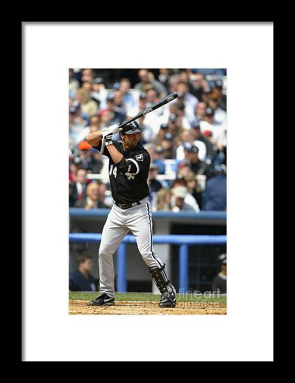 American League Baseball Framed Print featuring the photograph Paul Konerko by Ezra Shaw