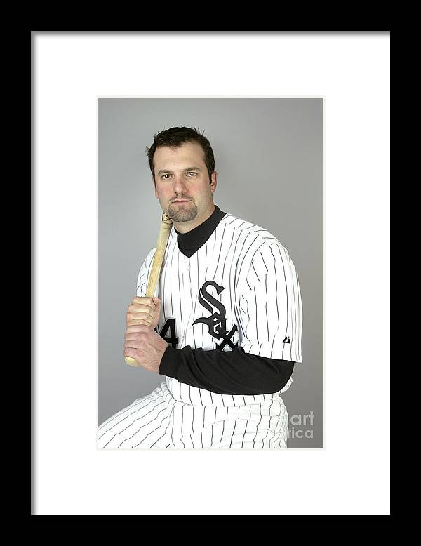 Media Day Framed Print featuring the photograph Paul Konerko by Jeff Gross