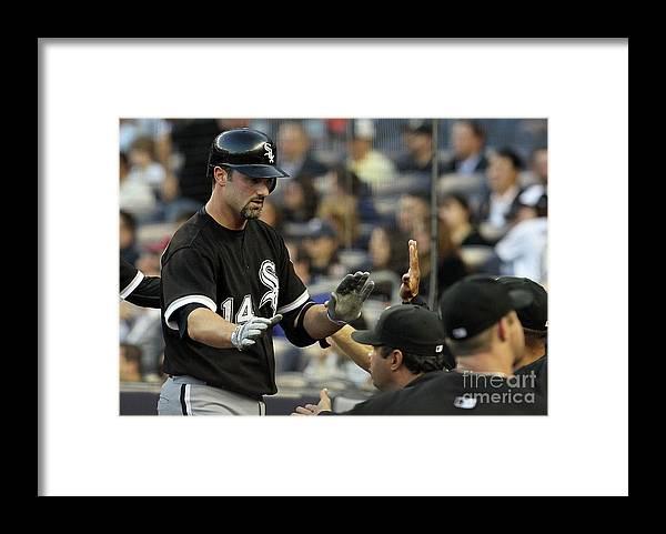 American League Baseball Framed Print featuring the photograph Paul Konerko by Jim Mcisaac