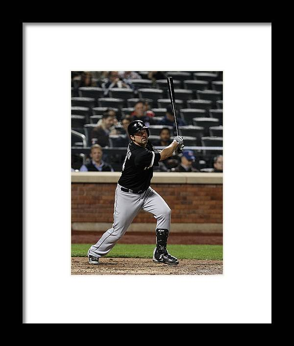 American League Baseball Framed Print featuring the photograph Paul Konerko by Mike Stobe