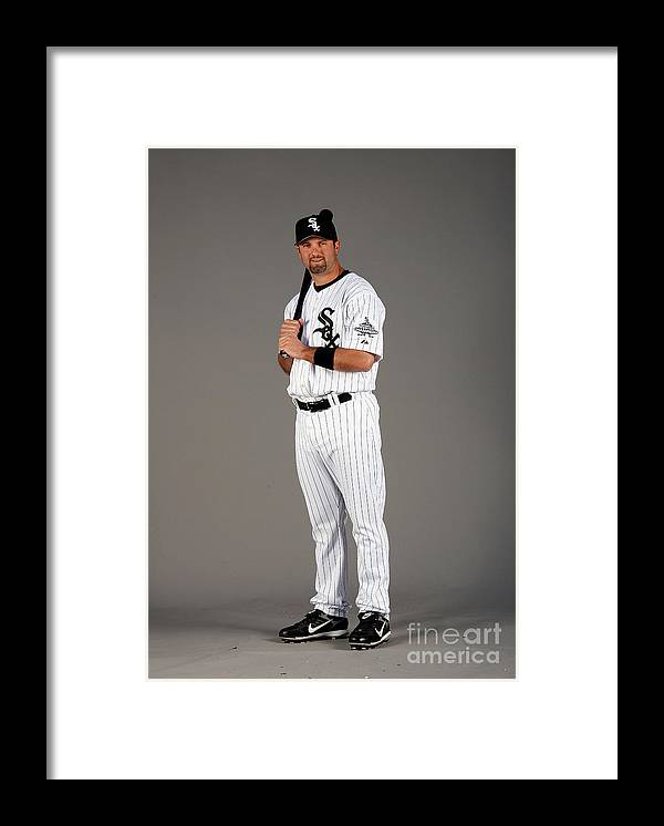 Media Day Framed Print featuring the photograph Paul Konerko by Otto Greule Jr