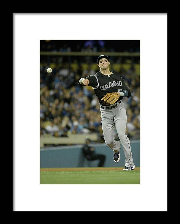 California Framed Print featuring the photograph Paul Maholm and Troy Tulowitzki by Harry How
