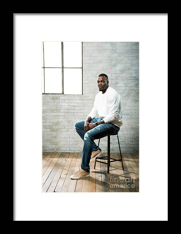Nba Pro Basketball Framed Print featuring the photograph Paul Millsap by Nathaniel S. Butler