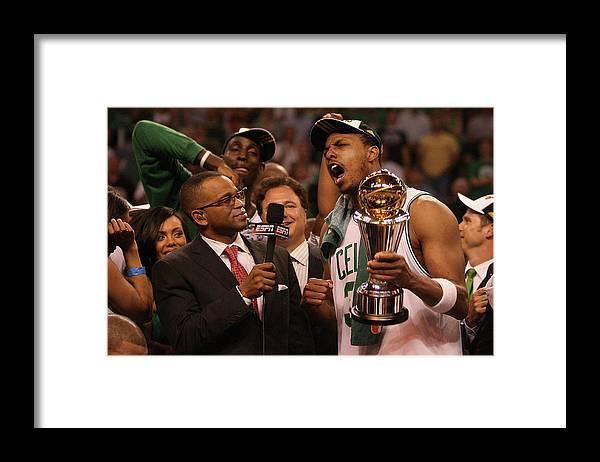 Playoffs Framed Print featuring the photograph Paul Pierce by Elsa