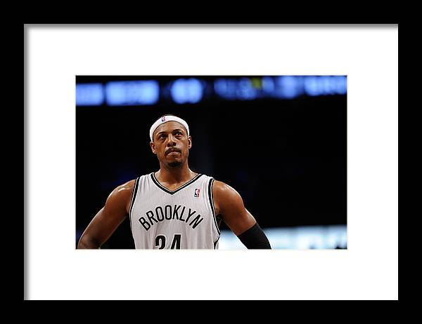 Nba Pro Basketball Framed Print featuring the photograph Paul Pierce by Maddie Meyer