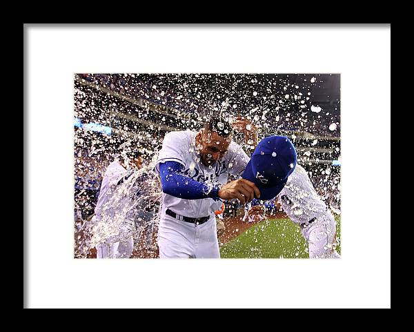 American League Baseball Framed Print featuring the photograph Paulo Orlando by Jamie Squire