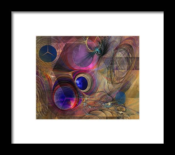 Peace Framed Print featuring the digital art Peace Will Come by John Robert Beck