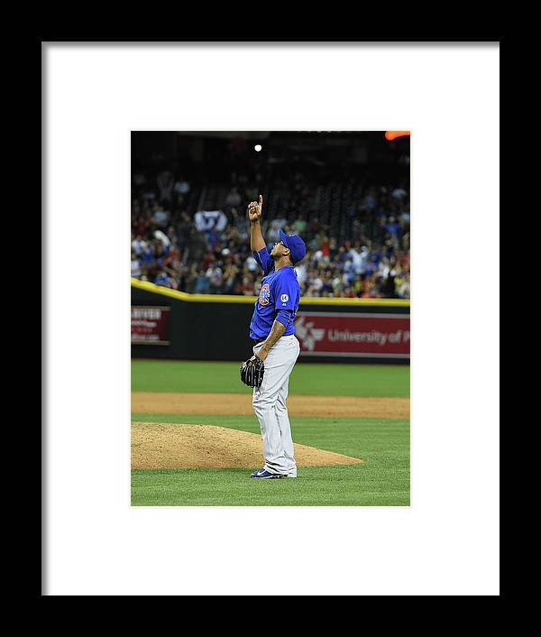 American League Baseball Framed Print featuring the photograph Pedro Strop by Norm Hall