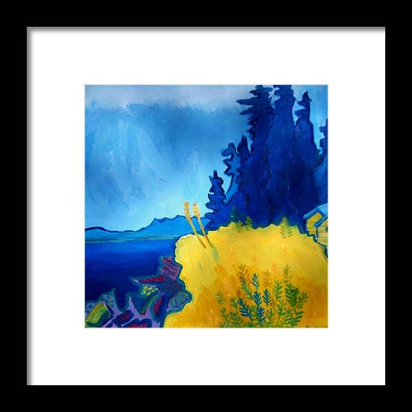 Seascape Framed Print featuring the painting Pemaquid Point by Debra Bretton Robinson