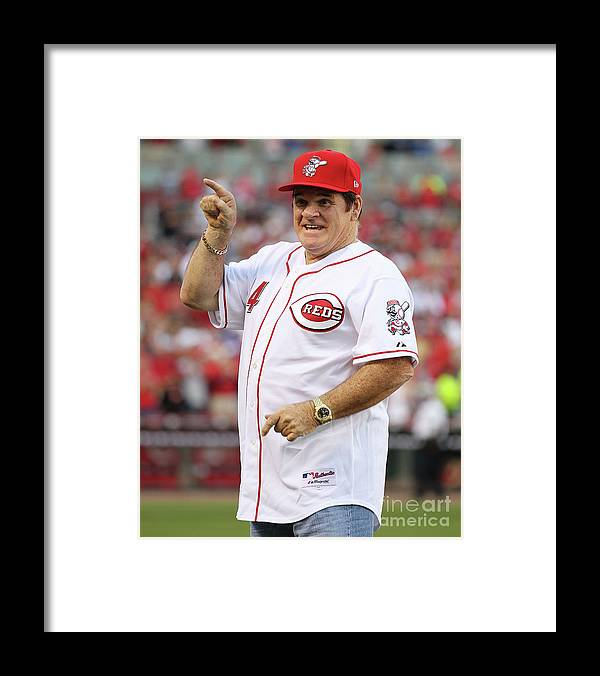 Great American Ball Park Framed Print featuring the photograph Pete Rose by Andy Lyons