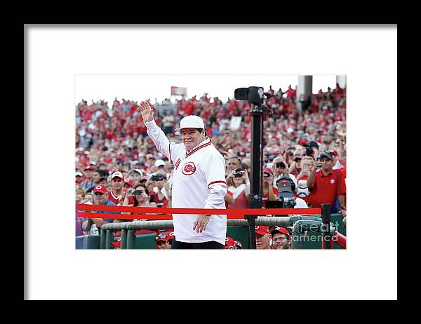 Great American Ball Park Framed Print featuring the photograph Pete Rose by Kirk Irwin