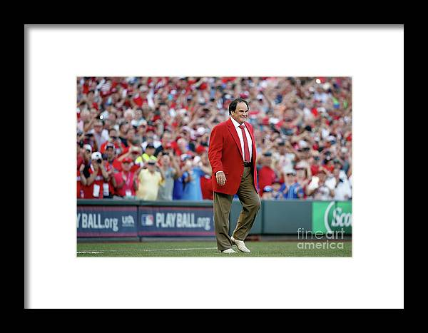 Great American Ball Park Framed Print featuring the photograph Pete Rose by Rob Carr