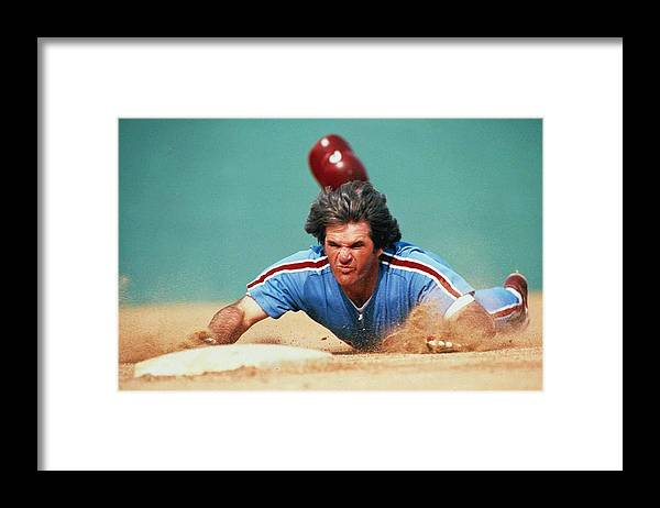 Pete Rose Framed Print featuring the photograph Pete Rose by Ronald C. Modra/sports Imagery