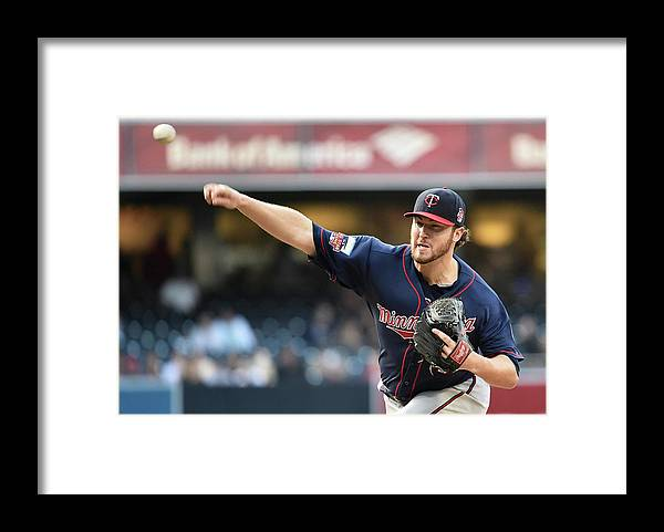 American League Baseball Framed Print featuring the photograph Phil Hughes by Denis Poroy
