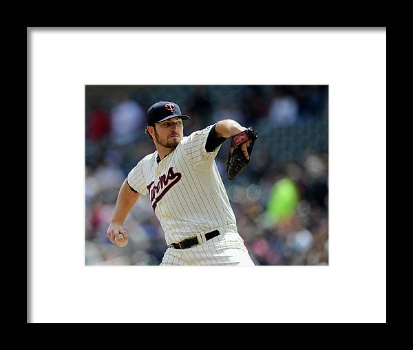 American League Baseball Framed Print featuring the photograph Phil Hughes by Hannah Foslien
