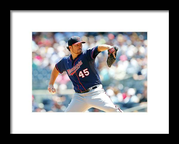 American League Baseball Framed Print featuring the photograph Phil Hughes by Jim Mcisaac