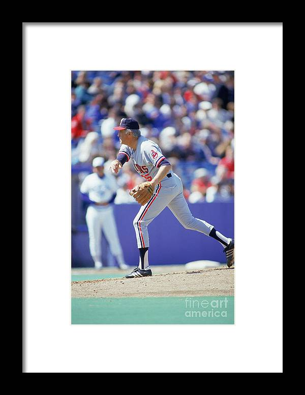1980-1989 Framed Print featuring the photograph Phil Niekro by Gray Mortimore