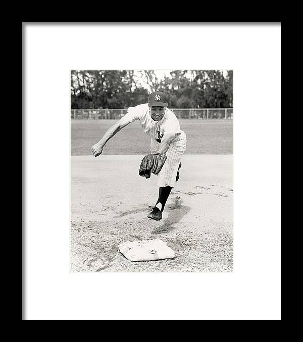 American League Baseball Framed Print featuring the photograph Phil Rizzuto by National Baseball Hall Of Fame Library