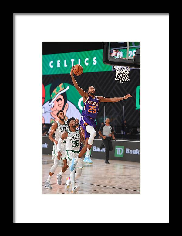 Nba Pro Basketball Framed Print featuring the photograph Phoenix Suns v Boston Celtics by Bill Baptist