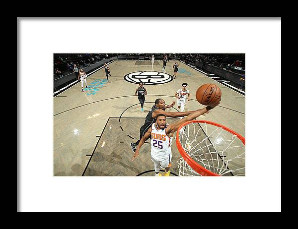 Nba Pro Basketball Framed Print featuring the photograph Phoenix Suns v Brooklyn Nets by Nathaniel S. Butler