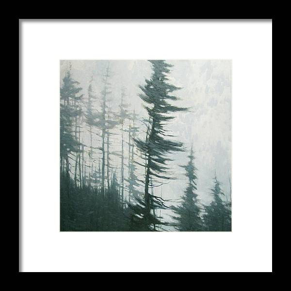 Framed Print featuring the painting Pine Portrait by Mary Jo Van Dell