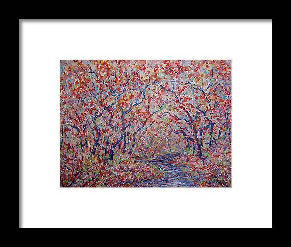 Landscape Framed Print featuring the painting Poetic Forest. by Leonard Holland