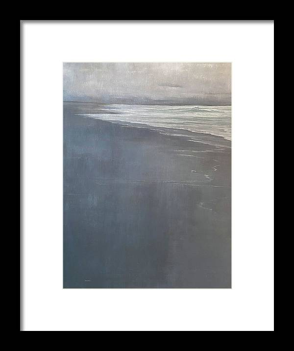 Framed Print featuring the painting Point Reyes by Mary Jo Van Dell