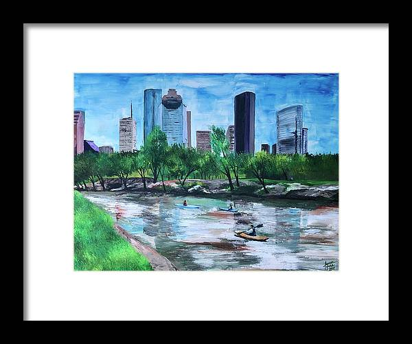 River Framed Print featuring the painting Pon de River by Lauren Luna