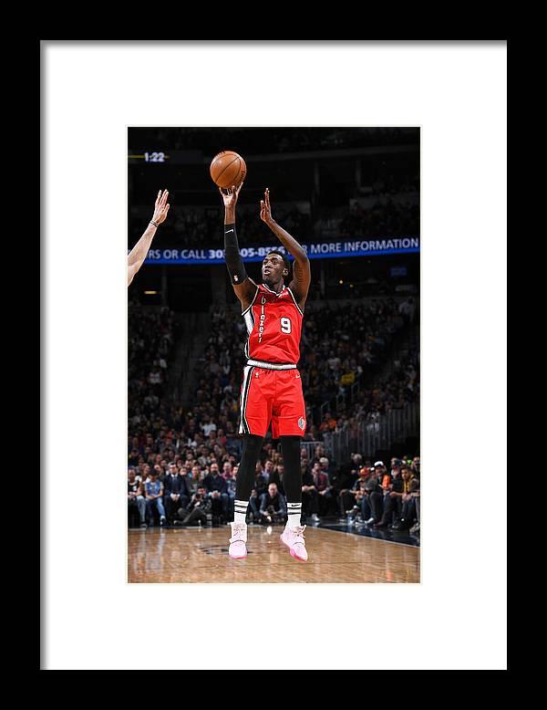 Nba Pro Basketball Framed Print featuring the photograph Portland Trail Blazers v Denver Nuggets by Garrett Ellwood