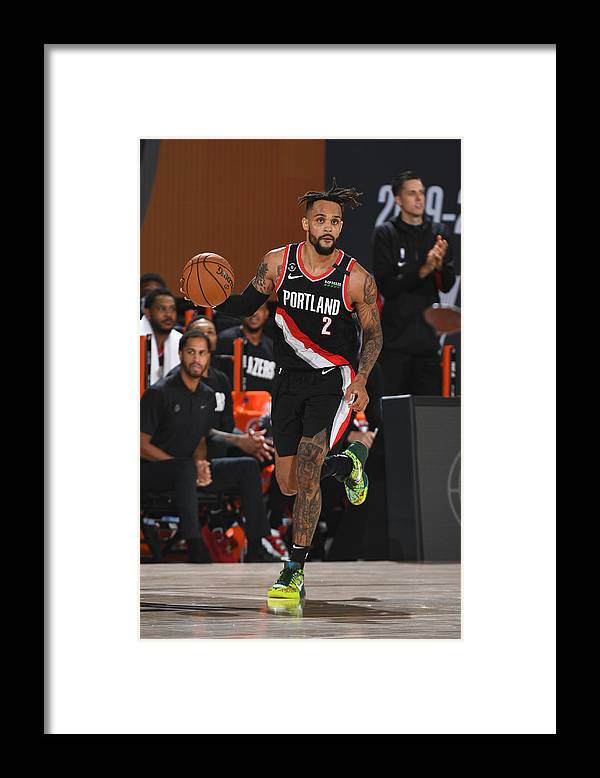 Nba Pro Basketball Framed Print featuring the photograph Portland Trail Blazers v Indiana Pacers by Garrett Ellwood
