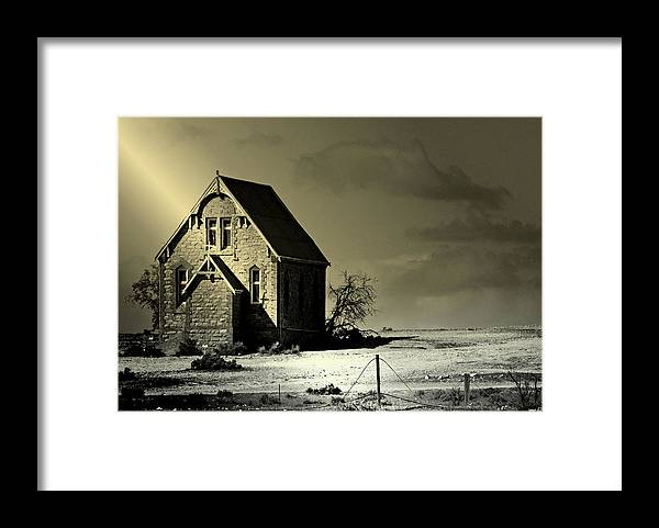 Church Framed Print featuring the photograph Praying For Rain by Holly Kempe
