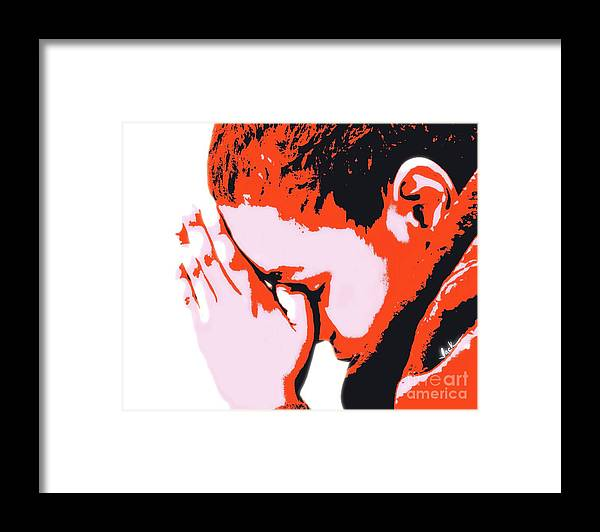 Pray Framed Print featuring the painting Precious Prayer by Jack Bunds